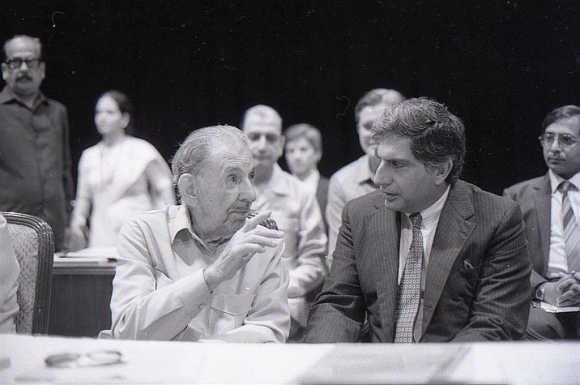 J. R. D Tata and Ratan Tata