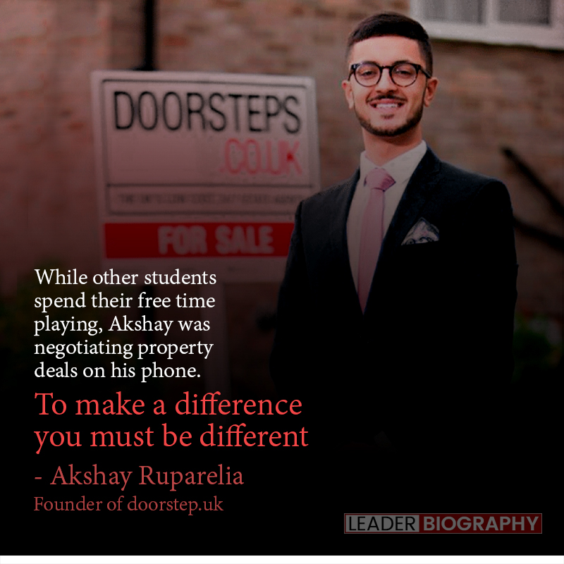 Akshay Ruparelia, founder of Doorstep.co.uk